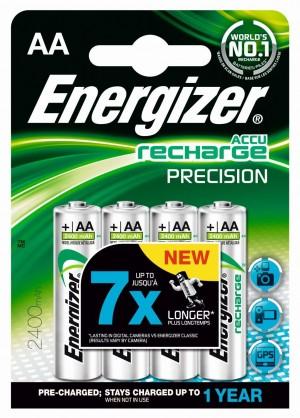 Lot de 4 Piles Energizer Rechargeable AA LR6 2400mAh