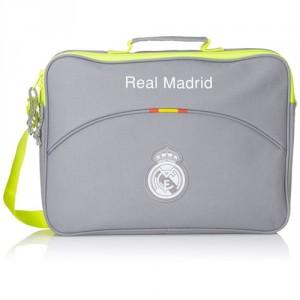 Sacoche Ordinateur 38cm Real Madrid Gris/Vert