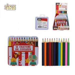 Crayon de Couleur Boîte Métal