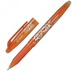 PILOT Stylo Frixion Effaçable et Rechargeable pointe 0,7 Orange