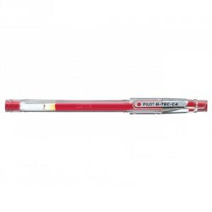PILOT Stylo G-Tec-C4 Roller encre gel Pointe Extra Fine Rouge