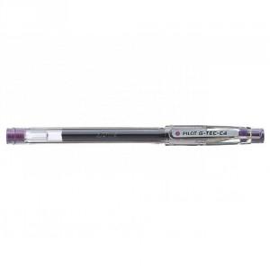 PILOT Stylo G-Tec-C4 Roller encre gel Pointe Extra Fine Violet