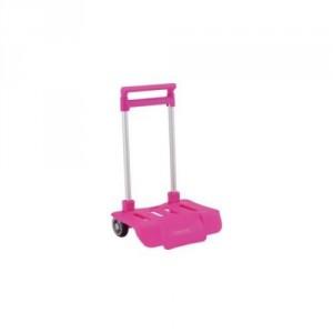Petit Trolley Pliable pour Sac à Roulette Rose