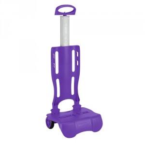 Trolley Pliable pour Sac à Roulette Violet