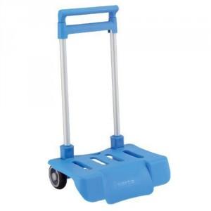 Petit Trolley Pliable pour Sac à Roulette Bleu ciel