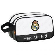 Trousse de Toilette Double Fermeture Real Madrid Noir/Blanc