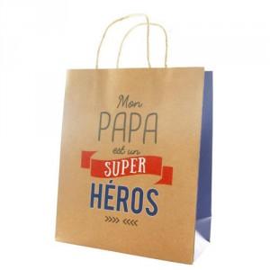 """Sac Cadeau """"Papa Le Super Héros"""""""