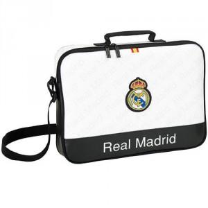 Sacoche Ordinateur 38cm Real Madrid Noir/Blanc