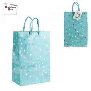 Sac Papier pour Shopping - Bleu
