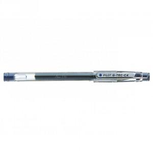 PILOT Stylo G-Tec-C4 Roller encre gel Pointe Extra Fine Bleu