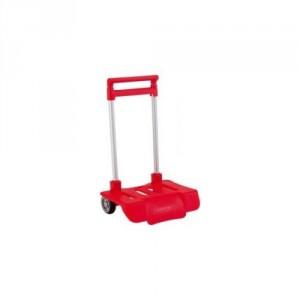 Petit Trolley Pliable pour Sac à Roulette Rouge