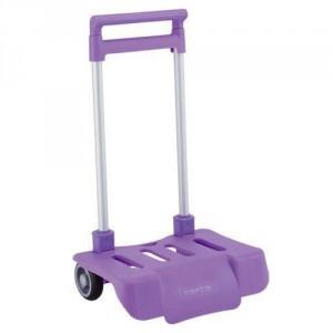 Petit Trolley Pliable pour Sac à Roulette Lilas