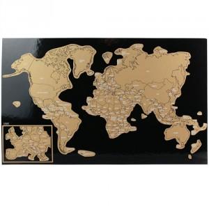 Sous Main Carte du Monde à Gratter Lot de 12 Feuilles