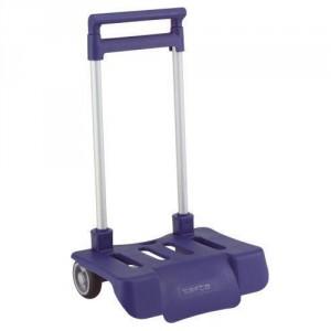 Petit Trolley Pliable pour Sac à Roulette Bleu marine