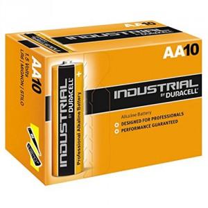 Lot de 10 Piles Duracell Industrial AA LR6 Alcaline