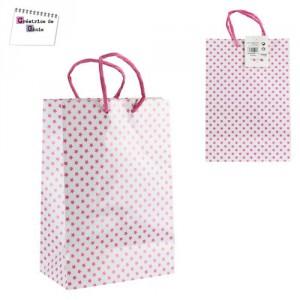 Sac Papier pour Shopping - Rose
