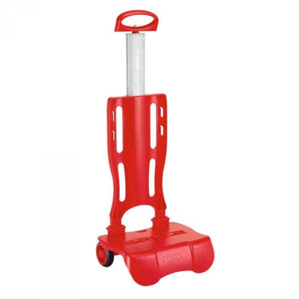 Trolley Pliable Pour Sac à Roulettes 30 x 85 x 23 cm chariot pliable (Rouge) jyalW